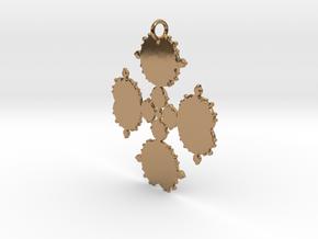 Mandelbrot Flake Pendant in Polished Brass