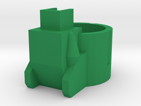 Blaster Rear Cover in Green Processed Versatile Plastic