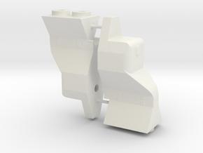 B5m 9mm Drop wing mount B5M in White Natural Versatile Plastic