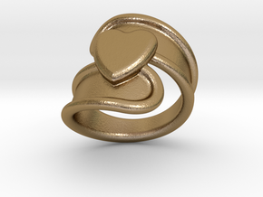 Valentinodayring 14 - Italian Size 14 in Polished Gold Steel