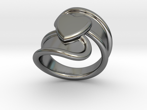 Valentinodayring  15 - Italian Size 15 in Fine Detail Polished Silver