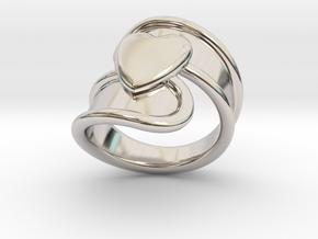Valentinodayring  17 - Italian Size 17 in Platinum