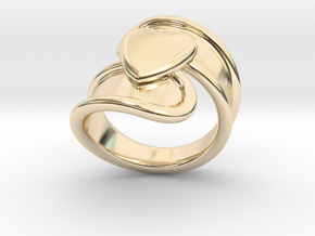Valentinodayring  18 - Italian Size 18 in 14k Gold Plated Brass