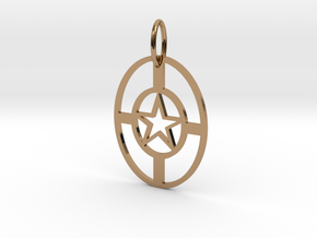 StarNecklace in Polished Brass