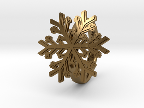 Snowflake Ring 1 d=18mm h35d18 in Polished Bronze