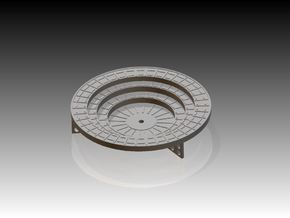 Oerlikon Band Stands 3 supports 1/96 in Smooth Fine Detail Plastic