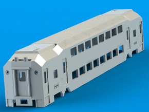 NJ Transit MultiLevel Coach N Scale in White Natural Versatile Plastic