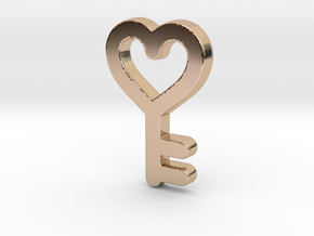 Heart Key Pendant - Amour Collection in 14k Rose Gold Plated Brass