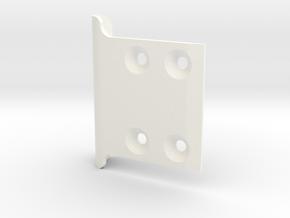 Team Associated B5 / B5m Front Bumper 4 Hole in White Processed Versatile Plastic