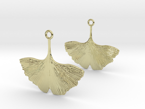 Ginkgo Leaf Earring in 18k Gold Plated Brass