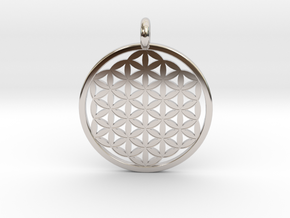 Flower Of Life in Rhodium Plated Brass