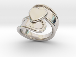 Valentinodayring  20 - Italian Size 20 in Rhodium Plated Brass
