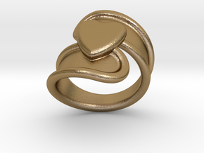 Valentinodayring  21 - Italian Size 21 in Polished Gold Steel