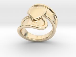 Valentinodayring  28 - Italian Size 28 in 14k Gold Plated Brass