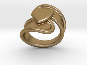 Valentinodayring  28 - Italian Size 28 in Polished Gold Steel