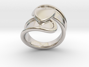 Valentinodayring  29 - Italian Size 29 in Rhodium Plated Brass