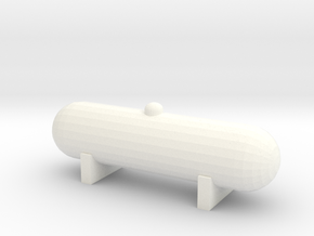 Propane Tank (1:87) in White Strong & Flexible Polished