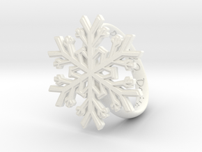 Snowflake Ring 1 d=19mm h35d19 in White Processed Versatile Plastic