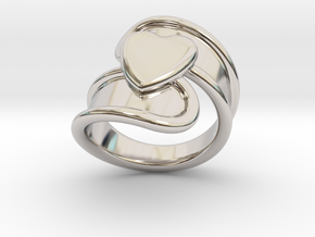 Valentinodayring  30 - Italian Size 30 in Rhodium Plated Brass