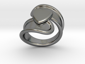 Valentinodayring  31 - Italian Size 31 in Fine Detail Polished Silver