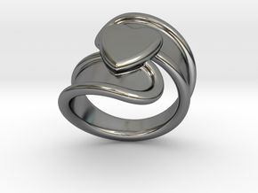 Valentinodayring  32 - Italian Size 32 in Fine Detail Polished Silver