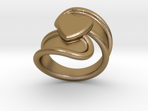 Valentinodayring  32 - Italian Size 32 in Polished Gold Steel