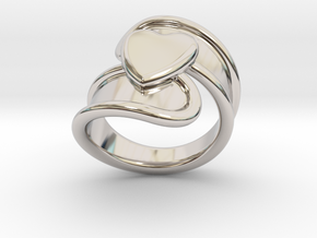 Valentinodayring  33 - Italian Size 33 in Rhodium Plated Brass