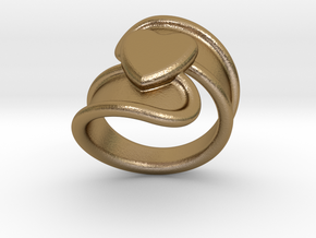 Valentinodayring  33 - Italian Size 33 in Polished Gold Steel