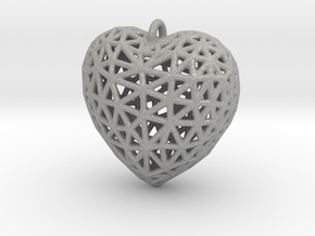 Heart Pendant #2 in Aluminum