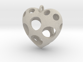 Heart Pendant #3 in Natural Sandstone
