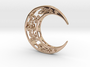 Moon_Pendant in 14k Rose Gold