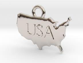 USA Pendant in Platinum