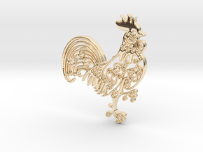 Rooster_Pendant in 14K Yellow Gold