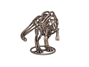 T-Rex Wireframe  in Polished Bronzed Silver Steel