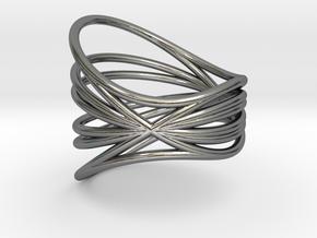 EMI ring Nº1 in Polished Silver