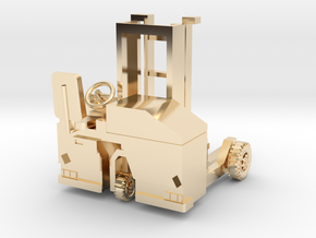 00 scale: Forklift, vorklift, Kooiaap, Gabelstaple in 14K Yellow Gold