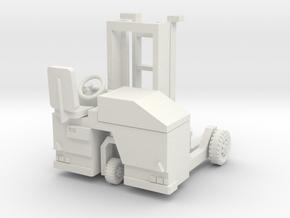 00 scale: Forklift, vorklift, Kooiaap, Gabelstaple in White Natural Versatile Plastic