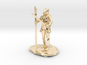 Dragonborn Ice Sorcerer in 14K Yellow Gold