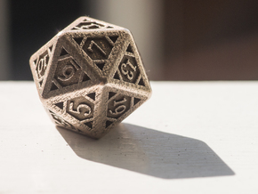 Icosahedron D20 in Stainless Steel