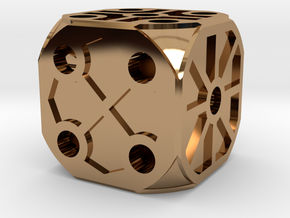 Rustic  Die - Small in Polished Brass