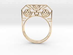 Screaming futur Warrior (Size Large - 8) in 14k Gold Plated Brass