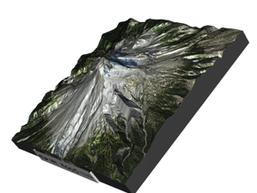 Mt Hood Map in Full Color Sandstone