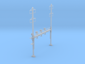 CATENARY PRR BEAM SIG 4 TRACK 2-2PHASE N SCALE  in Smooth Fine Detail Plastic
