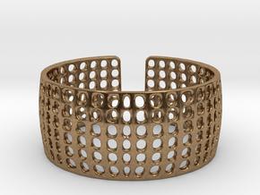LOKA cuff  in Natural Brass