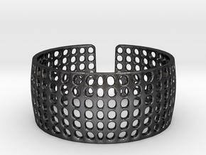 LOKA cuff  in Polished and Bronzed Black Steel