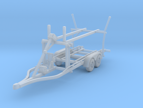 Boat trailer 01. 1:64 Scale  in Smooth Fine Detail Plastic