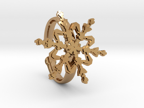 Snowflake Ring 2 d=19.5mm Adjustable h35d195a in Polished Brass