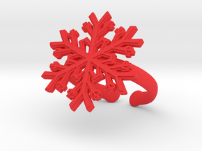 Snowflake Ring 1 d=19.5mm Adjustable h35d195a in Red Processed Versatile Plastic
