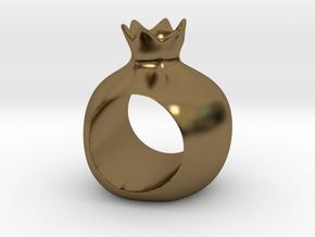 ROSHANNA napkin ring in Polished Bronze