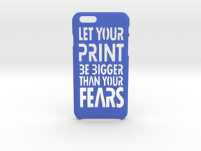 PrintBig iPhone 6 6s case in Blue Processed Versatile Plastic
